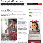 Los Angeles Times, LA at Home Section Oct 2, 2012