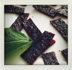 chokecherry fruit leather with wild mint