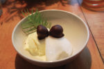 Bay Leaf Ice Cream, Doug Fir Sorbet, Oak Nut Marzipan